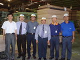 Joint Factory Visit with MITI and MIDA to a plywood factory in Sibu